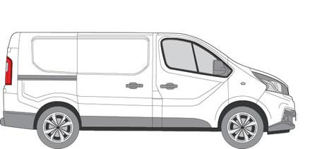 Fiat Talento Roof Racks (2016+ SWB (L1) - Low Roof (H1))