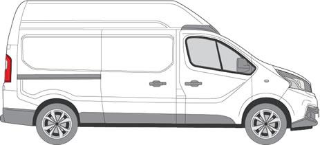Fiat Talento Roof Racks (2016+ LWB (L2) - High Roof (H2))
