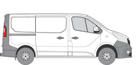 Nissan NV300 Van Racking (2016+ SWB (L1) - Low Roof (H1))
