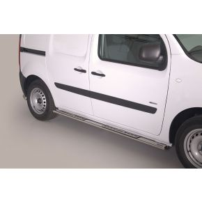 Mercedes Citan Side Bars With Steps (Oval With Side Steps) Stainless Steel Chrome