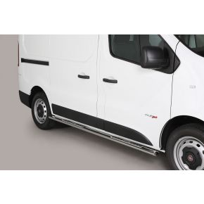 Fiat Talento Side Bars 2016+ (Oval With Side Steps) Stainless Steel Chrome