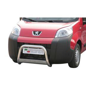 Peugeot Bipper Bull Bar 2008+ - Stainless Steel Chrome EC APPROVED 63mm