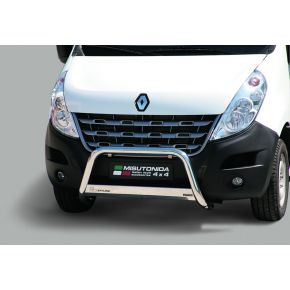 Renault Master Bull Bar 2010+ - Stainless Steel Chrome EC APPROVED 63mm