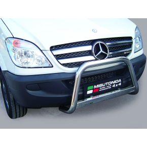Mercedes Sprinter Bull Bar 2007-2012 - Stainless Steel Chrome EC APPROVED 63mm