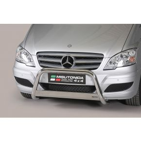 Mercedes Vito/Viano Bull Bar 2010-2014 - Stainless Steel Chrome EC APPROVED 63mm