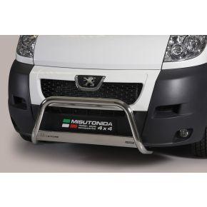 Peugeot Boxer Bull Bar 2006-2013 - Stainless Steel Chrome EC APPROVED 63mm