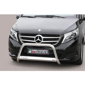 Mercedes V Class Bull Bar 2014+ - Stainless Steel Chrome EC APPROVED 63mm