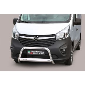 Vauxhall Vivaro Bull Bar 2014+ - Stainless Steel Chrome EC APPROVED 63mm