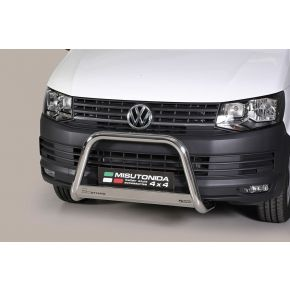 VW Transporter T6 Bull Bar 2015+ - Stainless Steel Chrome EC APPROVED 63mm