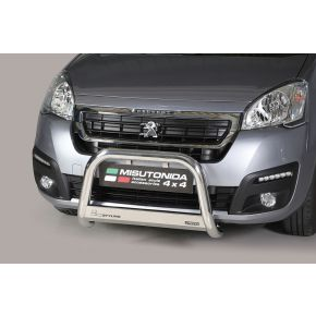 Peugeot Partner Bull Bar 2016+ - Stainless Steel Chrome EC APPROVED 63mm