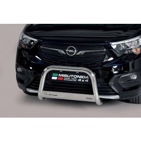 Vauxhall Combo Bull Bar 2018+ - Stainless Steel Chrome EC APPROVED 63mm