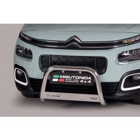 Citroen Berlingo Bull Bar 2018+ - Stainless Steel Chrome EC APPROVED 63mm