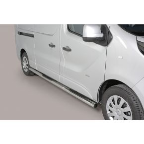 Fiat Talento Side Bars 2016+ LWB (Round With Side Steps) Stainless Steel Chrome