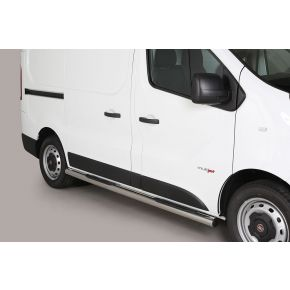 Fiat Talento Side Bars 2016+ SWB (Round With Side Steps) Stainless Steel Chrome