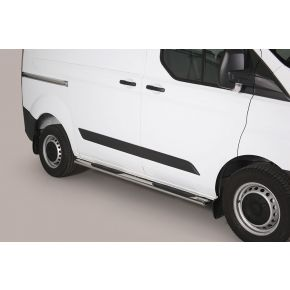 Ford Transit Custom Side Bars 2013+ SWB (Oval Side Steps) Stainless Steel Chrome