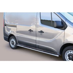 Renault Trafic Side Bars 2014+ SWB (Oval Side Steps) Stainless Steel Chrome