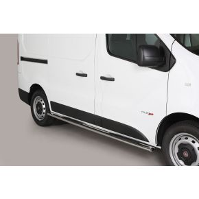Fiat Talento Side Bars 2016+ (Oval Side Steps) Stainless Steel Chrome