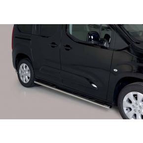 Vauxhall Combo Side Bars 2018+ MWB (Oval Side Steps) Stainless Steel Chrome