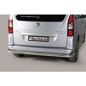 Peugeot Partner Rear Nudge Bar 2008+ Stainless Steel Chrome