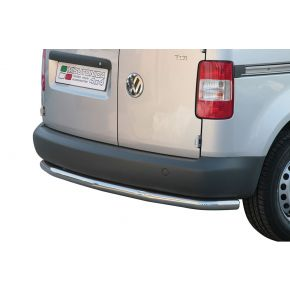 VW Caddy Rear Nudge Bar 2004+ Stainless Steel Chrome