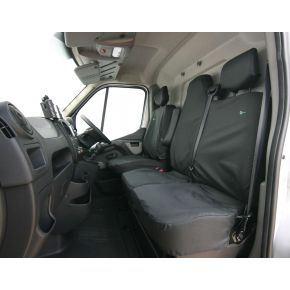 Tailored Front Seat Cover Set For Nissan NV400, Renault Master 2010+, Vauxhall Movano 2010+ (Double Has 2 Piece Base)