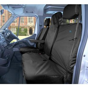 Tailored Front Seat Cover Set For Nissan NV400, Renault Master 2010+, Vauxhall Movano 2010+ (Double Has Single Piece Base)