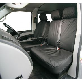 Tailored Double Front Passenger Seat Cover For VW Transporter T5/T6