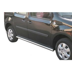 Renault Kangoo Side Bars 2008+ (Round) Stainless Steel Chrome