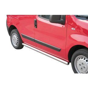 Peugeot Bipper Side Bars 2008+ (Round) Stainless Steel Chrome