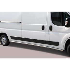 Fiat Ducato Side Bars 2006+ LWB (Round) Stainless Steel Chrome