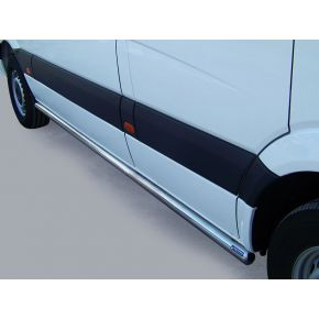 VW Crafter Side Bars 2011-2016 MWB (Round) Stainless Steel Chrome