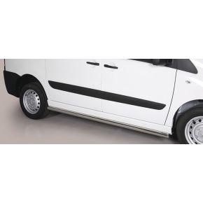 Peugeot Expert Side Bars 2006-2015 SWB (Round) Stainless Steel Chrome