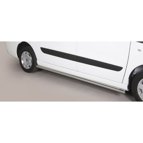 Fiat Scudo Side Bars 2006+ LWB (Round) Stainless Steel Chrome