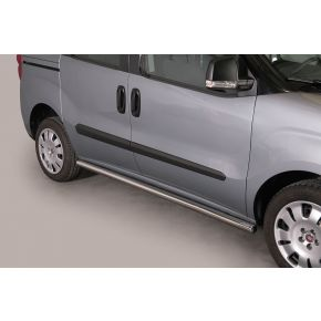 Fiat Doblo Side Bars 2010+ (Round) Stainless Steel Chrome