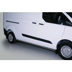 Ford Transit Custom Side Bars 2013+ LWB (Round) Stainless Steel Chrome
