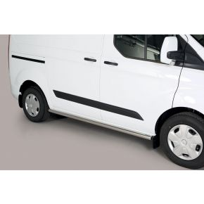 Ford Transit Custom Side Bars 2013+ SWB (Round) Stainless Steel Chrome