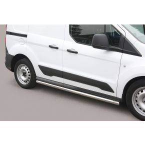Ford Transit Connect Side Bars 2014+ (Round) Stainless Steel Chrome