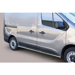 Renault Trafic Side Bars 2014+ SWB (Round) Stainless Steel Chrome