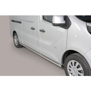 Fiat Talento Side Bars 2016+ LWB (Round) Stainless Steel Chrome