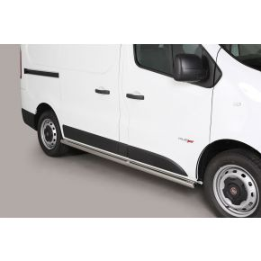 Fiat Talento Side Bars 2016+ SWB (Round) Stainless Steel Chrome