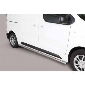 Citroen Dispatch Side Bars 2016> MWB (Round) Stainless Steel Chrome
