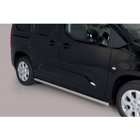 Vauxhall Combo Side Bars 2018+ MWB (Round) Stainless Steel Chrome