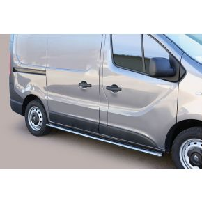 Renault Trafic Side Bars 2014+ SWB (Oval) Stainless Steel Chrome