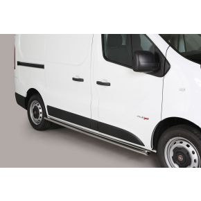 Fiat Talento Side Bars 2016+ (Oval) Stainless Steel Chrome
