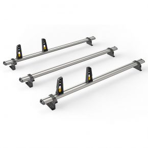 Nissan Primastar Roof Rack For 2002-2014 High Roof H2 Models (3 Roof Bars - ULTI Bar By Van Guard)