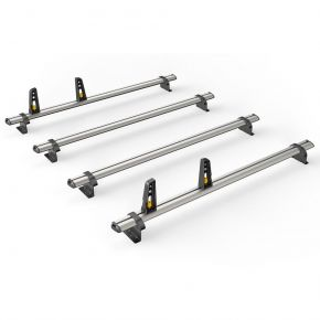 Nissan Primastar Roof Rack For 2002-2014 High Roof H2 Models (4 Roof Bars - ULTI Bar By Van Guard)