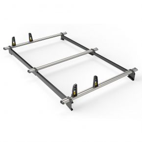 Ford Transit Courier Roof Rack For 2014+ Barn Doors Models (3 Roof Bars - ULTI Bar By Van Guard)