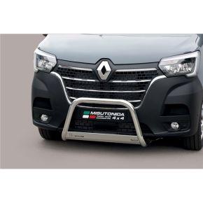 Renault Master Bull Bar 2010+ - Stainless Steel Chrome EC APPROVED 63mm