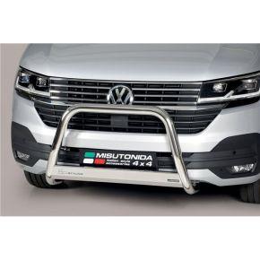 VW Transporter T6 Bull Bar 2015+ - Stainless Steel Chrome EC APPROVED 63mm