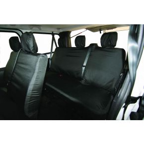 Tailored Rear Six Seat Combi Seat Cover Set For Fiat Talento, Nissan NV300, Renault Trafic 2014+, Vauxhall Vivaro 2014-2019